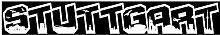 plot4u Autoaufkleber Stuttgart Schriftzug Skyline