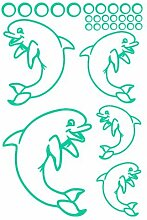 plot4u Delfin Creativ-Set Aufkleber in 5 Größen