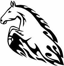 plot4u Flammenaufkleber Pferd Tribal Aufkleber 608