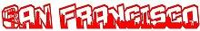 plot4u San Francisco Schriftzug Skyline Aufkleber