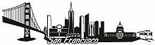 plot4u San Francisco Skyline Aufkleber Sticker