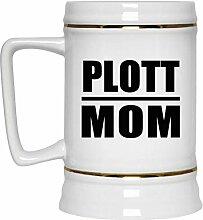 Plott Mom - Beer Stein Bierkrug Keramik Bierhumpen