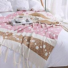 Plüsch Baumwolle Quaste Decke gestrickte