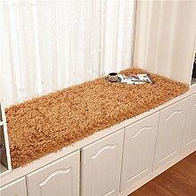 Plüsch bay fenster dämpfung fensterbank-pad teppich simple modern window mat rutschfeste balkon matte prinzessin tatami mat-D 80x210cm(31x83inch)