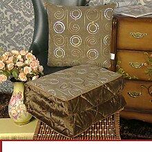 Plüsch Kissen quilt Dual-Kissen/ große gepolsterte Büro NAP Decke/ Auto Lenden Kissen Sofa-B 40x40cm(16x16inch)