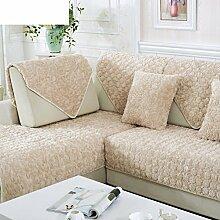 Plüsch-sofa-matte/Einfache Sofa Handtuch/Stoff Europäisches Sofa Handtuch/Anti-rutsch-volldeckel-sofa-sets-C 90x90cm(35x35inch)