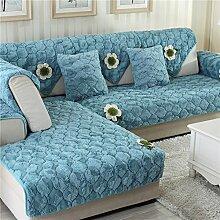 Plüsch-sofa-matte/Stoffe,Einfache Moderne Sofa-matte/Lederhaube/Skid-stil Sofa-kissen/Wohnzimmer Winter Sofa Matte-B 90x70cm(35x28inch)