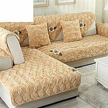 Plüsch-sofa-matte/Stoffe,Einfache Moderne Sofa-matte/Lederhaube/Skid-stil Sofa-kissen/Wohnzimmer Winter Sofa Matte-D 90x160cm(35x63inch)
