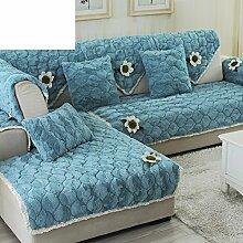 Plüsch-sofa-matte/Stoffe,Einfache Moderne Sofa-matte/Lederhaube/Skid-stil Sofa-kissen/Wohnzimmer Winter Sofa Matte-H 70x180cm(28x71inch)