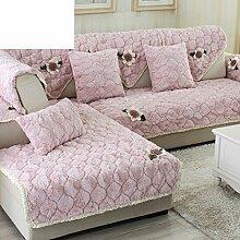 Plüsch-sofa-matte/Stoffe,Einfache Moderne Sofa-matte/Lederhaube/Skid-stil Sofa-kissen/Wohnzimmer Winter Sofa Matte-I 110x110cm(43x43inch)