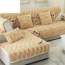 Plüsch-sofa-matte/Stoffe,Einfache Moderne Sofa-matte/Lederhaube/Skid-stil Sofa-kissen/Wohnzimmer Winter Sofa Matte-F 70x210cm(28x83inch)