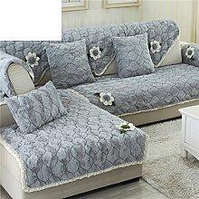 Plüsch-sofa-matte/Stoffe,Einfache Moderne Sofa-matte/Lederhaube/Skid-stil Sofa-kissen/Wohnzimmer Winter Sofa Matte-G 110x210cm(43x83inch)