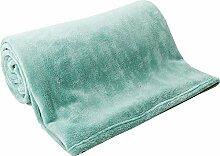 Plüschdecke Baumwolle Decke Extrem weich hautfreundlich Korallen Teppich Decke Schlafzimmer Decke Wohnzimmer Decke ( farbe : Grün )