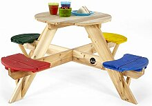 Plum 02017 Kinder Picknicktisch rund mit farbigen