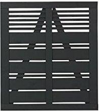 Plus 15316-15 Silence Tor 100x110cm, schwarz farbgrundier