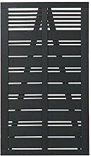 Plus 15318-15 Silence Tor 100x170cm, schwarz farbgrundier