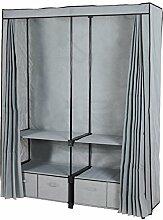 Plus großer Kleiderschrank / Doppel-Einbauschrank / erwachsene Tuch Kleiderschrank / mit vier Tuch Schubladen ( Farbe : Grau )