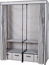Plus großer Kleiderschrank / Doppel-Einbauschrank / erwachsene Tuch Kleiderschrank / mit vier Tuch Schubladen ( Farbe : Braun )