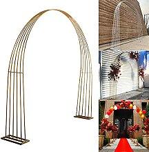 PLUY Garden Arch, Gartenbogen Gold, Stahlrahmen