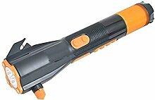 Plzlm Notfall-Dynamo-Taschenlampe Auto-Nothammer