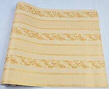 Pmhhc Europäischen Stil Damast Tapete Striped PVC