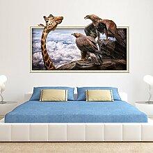Pmhhc Giraffe Eagle 3D Bilderrahmen Wandaufkleber