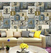 Pmhhc Moderne Vintage Holz Ziegel Wandkunst Tapete