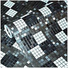 Pmhhc Tapete Für Wände 3D Schwarz Mosaik