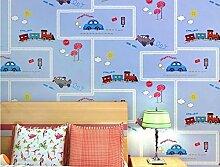 Pmhhc Vliestapete Kinderzimmer Cartoon Auto Junge