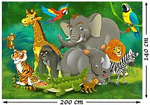 PMP 4life. Fototapete Kinderzimmer Tiere im Jungel