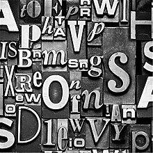 Pmrioe Moderne Vintage Englisch Buchstaben Tapete
