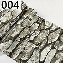 Pmrioe Vintage 3D Ziegelstein Texturierte Tapete