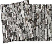 Pmrioe Vintage Stein Ziegelstein Tapete Für