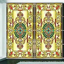PMZZPLVDS Fensterfolie Kirche Glasfolie Farbe