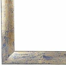 PN35 Bilderrahmen 50x70 cm in Blau Silber Gold mit