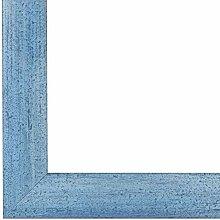 PN35 Bilderrahmen 50x70 cm in Hellblau gewischt