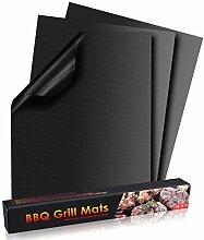 POAO Grill Matte Non Stick BBQ Grill Mat Set 3,