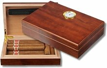 Pocket Humidor Walnut New Generation Polymerbefeuchter + Firelighter