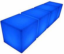 point-garden 4x LED Leuchtwürfel Sitzwürfel