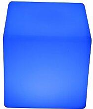 point-garden Leuchtwürfel LED Farbwechsel 20cm Lampe Würfel Sitzwürfel Akku FB