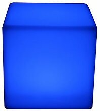 point-garden Leuchtwürfel LED Farbwechsel 30cm Lampe Würfel Sitzwürfel Akku FB