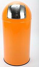 point-home Mülleimer Abfalleimer Push Bin 52 L Stahl orange lackier