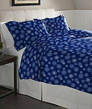 Pointehaven Flanell Übergroße Bettbezug-Set,