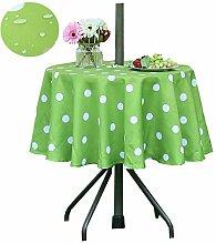 Poise3EHome Outdoor-Tischdecke, rund, mit