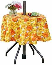Poise3EHome Runde Tischdecke mit Regenschirm-Loch,