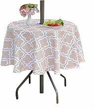 Poise3EHome Runde Tischdecke mit Regenschirmloch