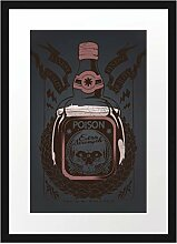 Poison Black Bilderrahmen mit Galerie-Passepartout