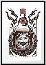 Poison Light Bilderrahmen mit Galerie-Passepartout
