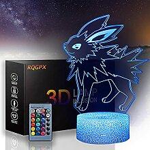 Pokemon 3D Visuelle Lampe Jolteon 3D Nachtlicht 16