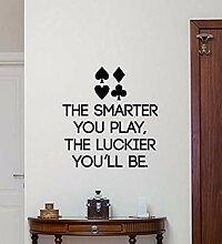 Poker Wandkunst Aufkleber Wohnkultur Wohnzimmer